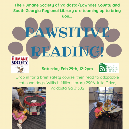 The Humane Society of Valdosta_Lowndes County and South Georgia Regional Library are teaming up to bring you... (1)